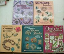 5 Antique Vintage Jewelry PRICE GUIDE Collector Books Ring Necklace Earrings mor