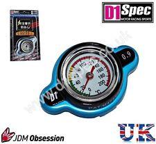 D1 Spec RACING il tappo del radiatore 0,9 Kg / cm con temperature gauge BLU SMALL HEAD JDM