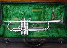 Vintage Conn 2B New World Symphony Silver Bb Professional Trumpet 1st Generation