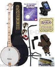 Deering Goodtime 5-String Openback Banjo - Clawhammer Open Back Package Bundle