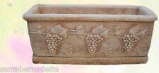 Vaso Brunello Decorato Vasi Esterno In Cemento 75x32 Cm - Art.218