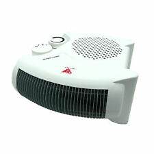 Flat Upright 2000W Portable Silent Electric Fan Heater Thermostat Hot & Cold