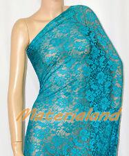 "160cm(63"") Width Teal(Green) 4-Way Stretch Spandex Lace Fabric DIY Making LC01N"