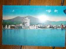 CPA-Carte postale ancienne-Salonique-Vue panoramique de la mer- chromo-vers 1920