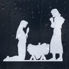 Navidad Jesús y María coche decal Vinilo Adhesivo Para Panel de ventana de parachoques