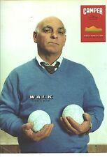 "PUBLICITE ADVERTISING 2002   CAMPER chaussures "" walk don't run"""