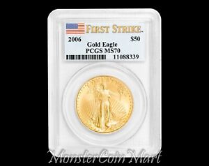 2006 $50 Gold Eagle PCGS MS70 FIRST STRIKE