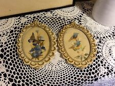 Pretty Pair of Vintage Miniatures in Ornate Rococo Style Frames #2293