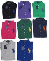 Polo Ralph Lauren Womens Slim The Skinny Polo Big Pony Logo Button Shirt New