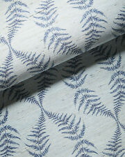 New $548 roll - Serena & Lily Gardenside Grasscloth Wallpaper - blue indigo fern
