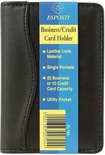 Titular de la tarjeta de crédito cartera de negocios Paintings - 20 capacidad de la tarjeta Mirada de Cuero Negro