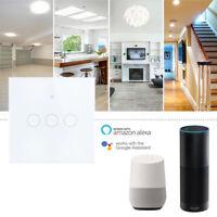 1/2/3Gang Smart Switch Wall Light WIFI APP Remote Contorl For Alexa/Echo Home@@