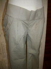 Pantalon court pantacourt grossesse NOPPIES MATERNITE XS 34 36 coton BEIGE PG11