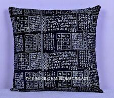 Indian Cotton Cushion Cover Throw Om Mantra Pillow Case Home Decor 40 x 40 cm