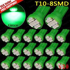 20 BRIGHT Green Plymouth LED 194 Wedge Instrument Panel Interior Light Bulb 12V