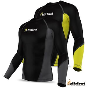 Didoo Mens Thermal Base Layer Compression Full Sleeve Shirt Body Top Cold Wear