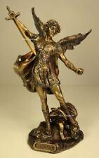 SAINT MICHAEL SLAYING DEMON Archangel Statue Antique Bronze Finish Angel