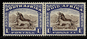 SOUTH AFRICA GVI SG120, 1s brown & chalky blue, M MINT. Cat £11.