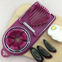 Stainless Steel Boiled Egg Slicer Cutter Tool Mushroom Tomato Kitchen Chopper