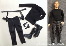 Kumik 1/6 Scale The Killer male Agent black shirt suit set with shoes fit body