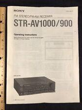 Sony STR-AV1000 Receiver Original Owners Manual 40 pages STRAV1000 strav900