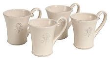 Kaffeebecher, Tasse,Geschirrserie Madame, Landhaus,Vintage,Monogramm,creme-beige