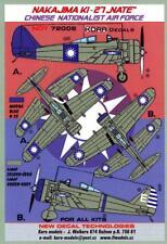 """KORA Decals 1/72 NAKAJIMA Ki-27b """"NATE"""" Chinese Air Force"""