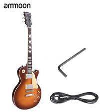 Hot ammoon Electric Guitar 6 String 23 Frets Solid Wood Brims with Cable US F8A9
