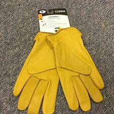 Noble Outfitters Equine Cheyenne Deerskin Leather Gloves Tan Barn Work Medium