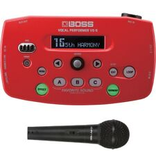 BOSS VE-5 Vocal Performer Effects Processor Looper Red + Peavey Mic + Cable