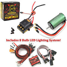 Castle Creations 1/8 Sidewinder 8th ESC w/ 2200kV Motor w/ 8 LED Lighting System