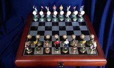Golf Themed Hand Painted Chess Set. Imperfect