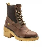 TIMBERLAND   UK 6 EU 39   Brown Leather Laced Ankle Boot   Rubber Heel   BNIB