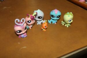 Littlest Pet Shop Lot of 5 Caterpillar 1 Bug  Authentic FREE SHIPPING  Lot # 24