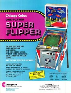 Chicago Coin's Superflipper Pinball 1970s Advertising Sales Flyer 021219AME