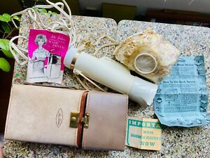 Vintage 60s LADY SUNBEAM Controlled Heat Bonnet Hair Dryer Case Mid-Century VTG
