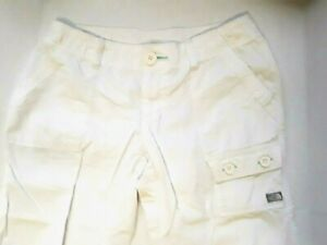 The North Face White Capri Pants Casual Cargo Hiking Outdoor Wear Size 8
