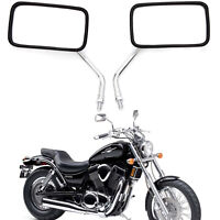Rectangle Motorcycle Rearview Mirrors For Honda Shadow ACE VT VF 700 750 1100