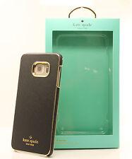 Kate Spade Samsung Galaxy S6 edge+ Plus Saffiano Leather Wrap Snap Case - Black