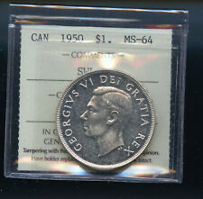 1950 SWL Canada Silver Dollar ICCS Certified MS64 DCB86