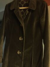 BODEN SOFT  VELVET SILK BLEND BROWN COAT SIZE 12 VGC