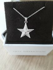 silver Star necklace Hot Diamond sterling