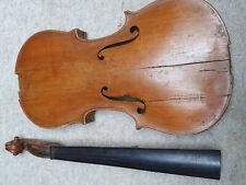 "old nicely flamed 4/4 Violin  violon! ""Stradiuarius ""needs serious repair"