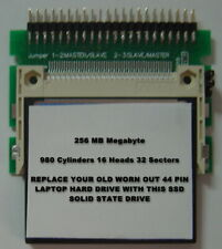 """256MB SSD Replace Old 2.5"""" IDE Laptop Drives with this SSD 44PIN Card & Adapter"""