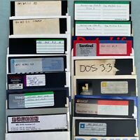 """MS DOS 3.0 3.3 3.1 Install 5.25"""" Floppy Disk Lot PC Software Microsoft Falcon"""