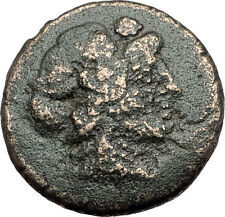 THESSALONICA Macedonia 100BC Authentic Ancient Greek Coin DIONYSUS & GOAT i63087
