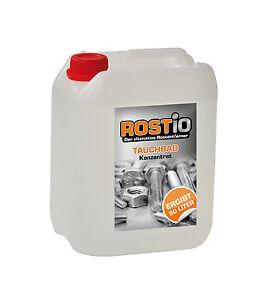 Rostio Rostentferner 5 Liter Tauchbad Konzentrat Rostumwandler ergibt 50 Liter