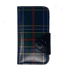 Patricia Nash Tartan Plaid Leather Brenna iPhone X 10 Phone Case Wallet Id