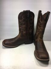 Justin SV7216 Silver Collection Square Toe Western Boot, Mens Size: 11.5D (C361)