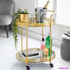 Deco Glamour GOLD Drinks Trolley